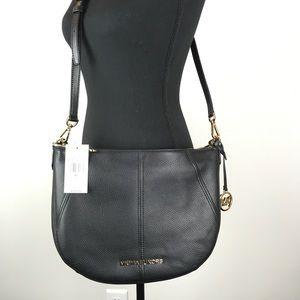 NWT Michael Kors Bedford Med Crescent Shoulder Bag